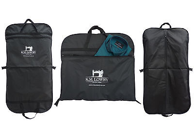 "2 for £15!! Black / Navy 44"" Suit Carrier Garment Cover Travel Bag- Strong Nylon"