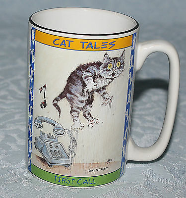 Cat Tales Mug Gary Patterson 1998 Phone Rings Scares Kitty First Call