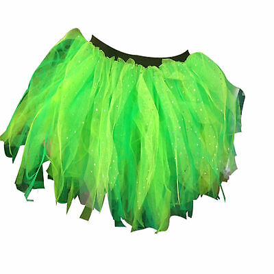 Irish Princess Diamante Neon Tutu Skirt 80s Fancy Dress St Patricks Day Party