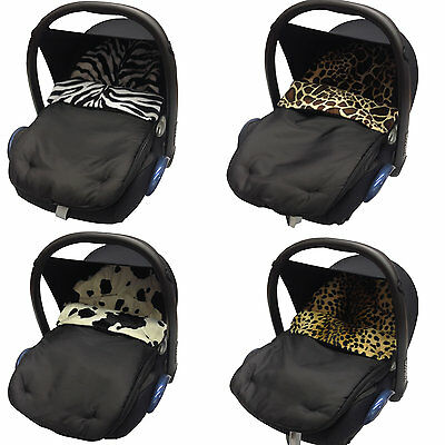 Animal Print Car Seat Footmuff/cosy Toes Compatible With Hauck  New