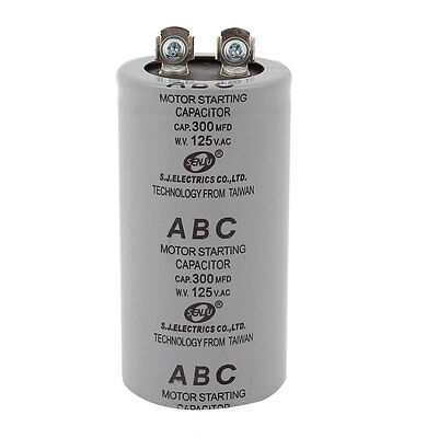 AC 125V 300MFD 300uF 2 Screw Terminals Motor Start Capacitor