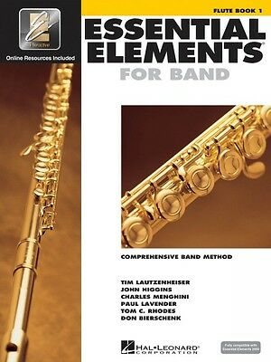 Essential Elements for Band Book 1 with EEi Flute Band Book Media Onli 000862566
