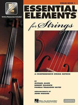 Essential Elements for Strings Book 1 with EEi Violin Strings Book Med 000868049