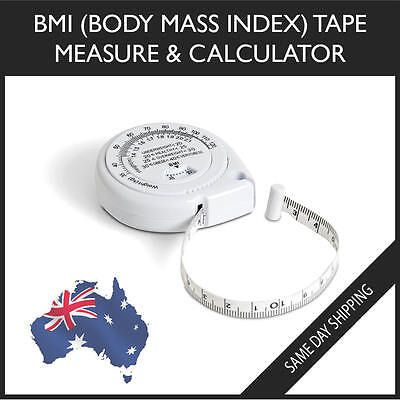 BMI Tape Measure & Calculator - Body Mass Index Slim Muscle Fit Weight loss