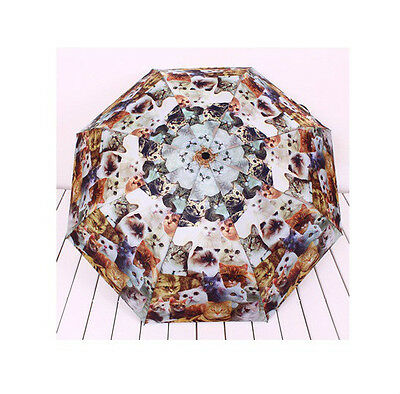 Cute Lovely Cats Umbrellas (opened manually) - Cats Kitten Print Collectibles