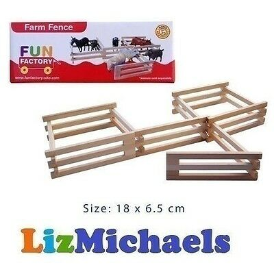 FUN FACTORY WOODEN FENCE for ANIMAL FARM PRETEND FARMER KIDS PLAY TOY