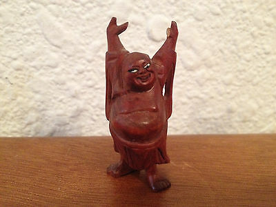 Possibly Vintage Asian Chinese or Japanese Wood Carved Buddha w/ Raised Hands