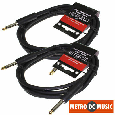 2-Pack 6' Foot 1/4 Mono Guitar Instrument Cable Cord Strukture Abs Lifetime
