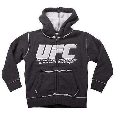 """Ufc Youth """"sherpa"""" Zip Up Hooded Sweatshirt Brand New - Blowout Pricing"""