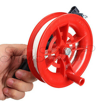 Outdoor Fire Wheel Kite Winder Tool Reel Handle W/ 100M Twisted String Line M