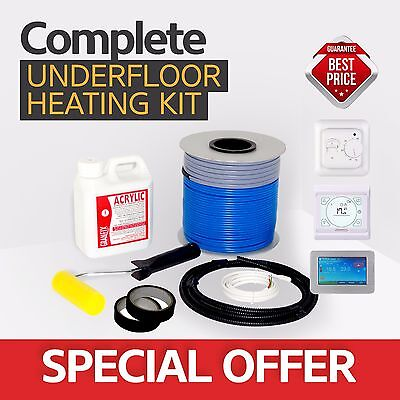 Electric underfloor heating loose cable kit- All Sizes in this Listing!