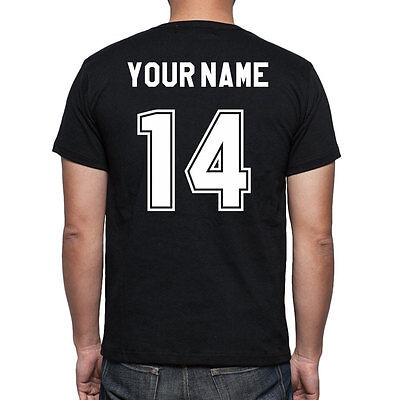 Iron on set - NAME + NUMBER - heat transfer for sports jersey, soccer, football