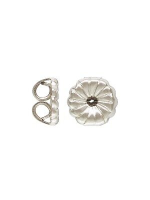 925 Sterling Silver 4mm Ball Post Earrings w//Ring  3pairs   #5221-4