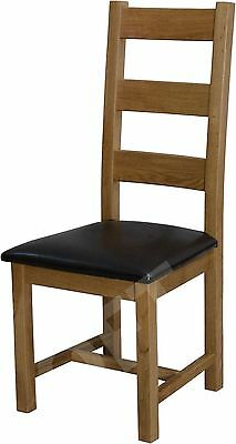 Montero set of four ladder back dining room chairs solid oak furniture