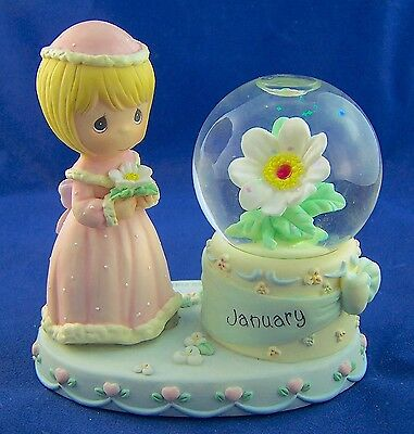 2000 Precious Moments Collectable January WaterBall SnowGlobe Birthday Gift  NIB