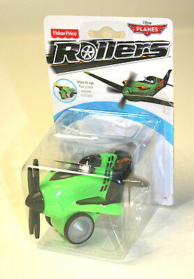 Disney Planes Rollers Rev'n Go Ripslinger Y5599-1910  Fisher Price Toy Green