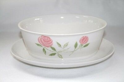 Vintage FRANCISCAN Pink-A-Dilly Gravy with Attached Underplate  EUC  #1332
