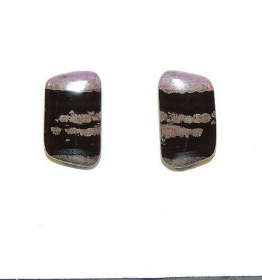 Sugilite Cabochons 13x8mm with 3mm dome from South Africa set of 2 (7466)