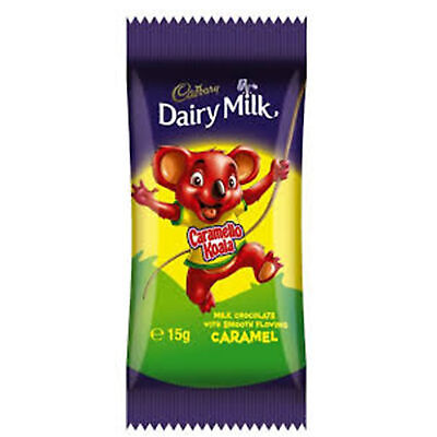 Bulk Lot 72 x Cadbury Caramello Koala 15g Chocolate Bars Koalas Bar Sweets New