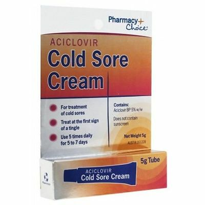 SAME AS ZOVIRAX 5% 5g Cold Sore Cream FAST ACTING EFFECTIVE FREE POST