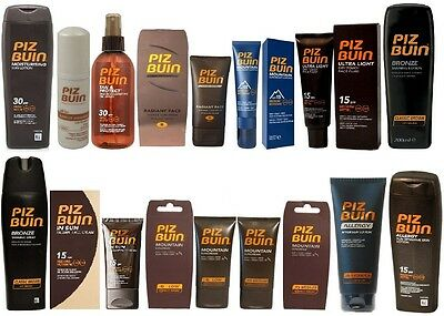 Piz Buin Sun Tanning Lotion Spray Cream Mousse Allergy Aftersun Bronze