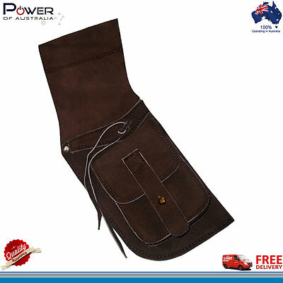 Archery Field Quiver Lightweight Suede Leather Longbow Arrow (R/H), Brand NEW