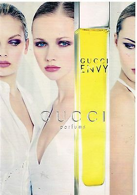 Publicité Advertising 1997 Parfum Gucci Envy
