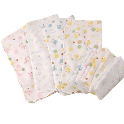 5 x 100% Cotton Super Cute Baby Gauze Muslin Square Bath Wash Cloths 30X30cm New