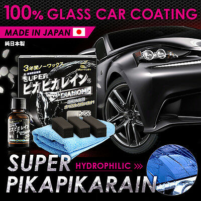 SUPER Pika Pika Rain 100% Glass Coating Water-Sheeting Effect Made in Japan
