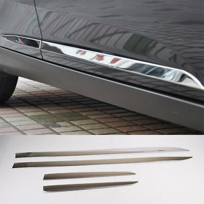 Fit For 12- Ford Focus Mk3 Chrome Door Side Line Garnish Body Molding Cover Trim
