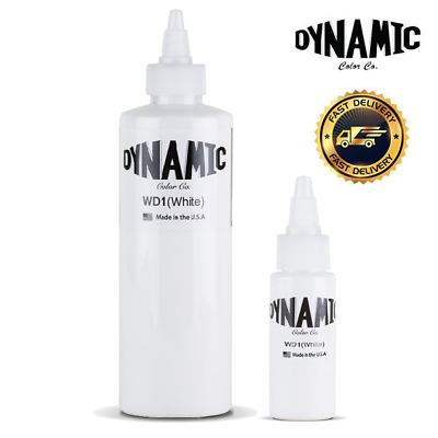 1oz or 8oz DYNAMIC WHITE Tattoo Ink Original bottle - UK SUPPLIER- FAST DELIVERY