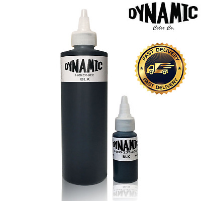 Dynamic Black Tattoo Ink - 1oz or 8oz - Original bottle for lining and shading