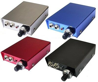 TATTOO mini POWER SUPPLY UK. RED BLUE SILVER or BLACK