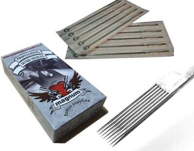 50 x 9 RM ROUND MAGNUM TATTOO NEEDLES TOP QUALITY UK - CURVED MAG 9RM