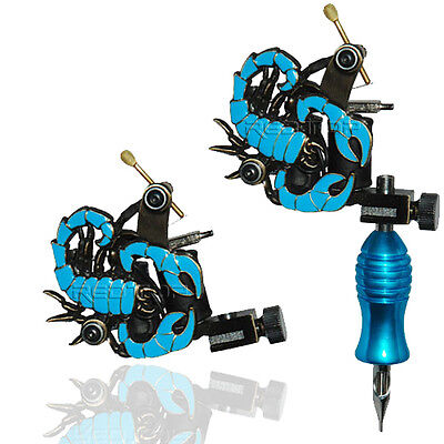 BLUE SCORPION PROFESSIONAL TATTOO MACHINE for power supply gun clip cord