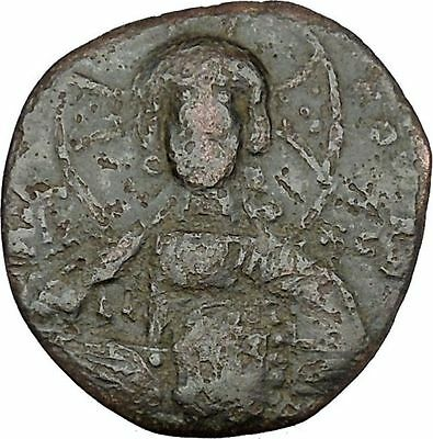 JESUS CHRIST Class A2 Anonymous Ancient 1028AD Byzantine Follis Coin  i41837