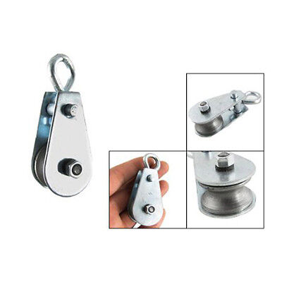 """Single Swivel Lifting 0.3"""" Rope Pulley Roller Block Sheave 0.03 Ton PS"""