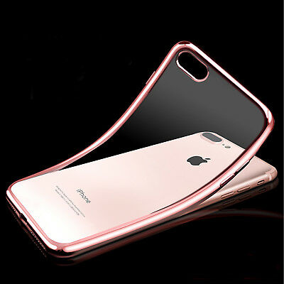 NEW iPhone 8 7 6S Plus X Case for Apple Crystal Slim Shockproof Soft Gel Cover