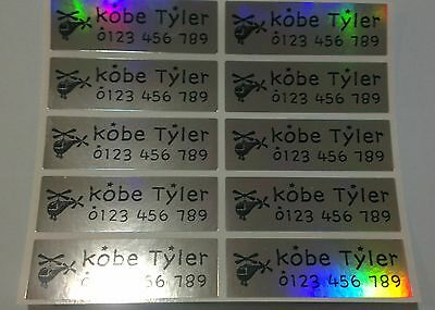 Large Laser Personalised Name Stickers, Name Labels, 47mm x 15mm, Waterproof