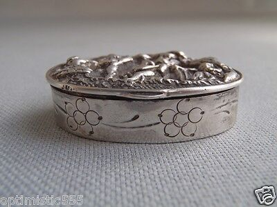 Antique Spanish Sterling Silver  Pill Patch Vanity Box