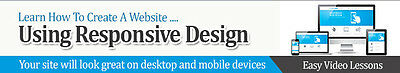 How To Set Up A Web Site Using Responsive Design- Videos on 1 CD