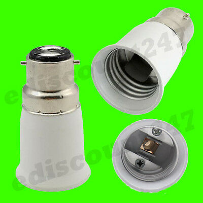 HIGH QUALITY Bayonet BC B22 to ES E27 Adaptor Socket Converter Holder UK SELLER.