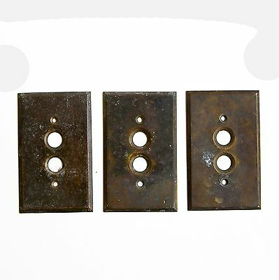 30% OFF - FREE SHIPPING Vintage Brass Cover Plate, Single Button Switch E1609