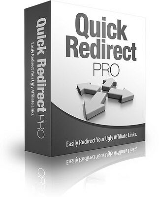 Quick Redirect Pro- Easily Redirect Your Ugly Affiliate URLs-Software on CD