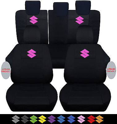 2005-2016SUZUKI swift FRONT+BACK CAR SEAT COVERS BLK W/S,choose ur color for S