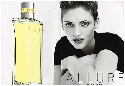 "Publicité Advertising 1998 (2 pages) Le parfum ""Allure"" par Chanel"