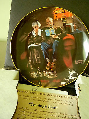 """Rockwell's Light Campaign- """"Evenings Ease"""" - Collector Plate-GE"""