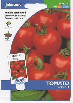 Johnsons Seeds - Pictorial Pack - Vegetable - Tomato Shirley F1 - 15 Seeds