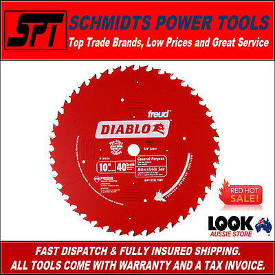 """FREUD D1040A DIABLO 40T 10"""" 255mm ATB MITER SAW & TABLE SAW BLADE 40 TOOTH NEW"""