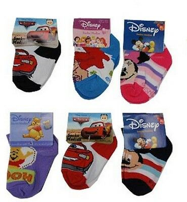 Disney Mickey & Minnie Mouse, Winnie the Pooh, Little Mermaid, Cars socks BNWT.